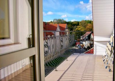 Widok z balkonu pokoju hotelowego w Kołobrzegu Villa Victoria
