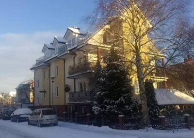Hotel Villa Victoria Kołobrzeg zimą