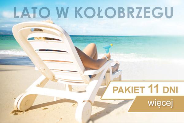Pakiet pobytowy lato 11 dni tylko we dwoje nad morzem w Kołobrzegu