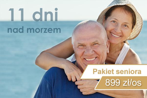 Pakiet pobytowy seniora 11 dni nad morzem w Kołobrzegu