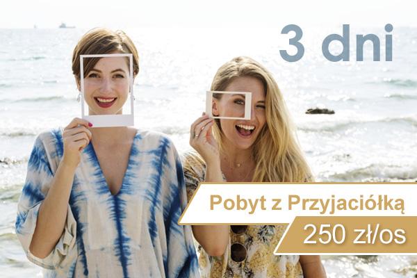 Pakiet pobytowy z przyjaciółką 3 dni nad morzem w Kołobrzegu