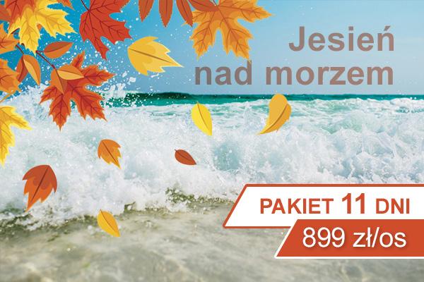 Pakiet pobytowy 8 dni wiosna, jesień nad morzem w Kołobrzegu